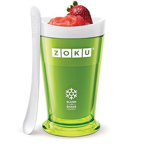 Zoku Slush & Shake Maker Máquina de helados y batidos Verde - Heladora (Máquina de helados y batidos, 1 senos, 8 h, Verde, 101,6 mm, 101,6 mm)