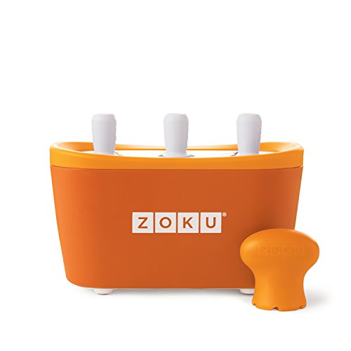 Zoku–3Quick Pop Maker para Helados immediati–Naranja