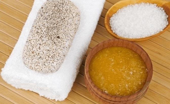 exfoliante casero con sal y aceites esenciales